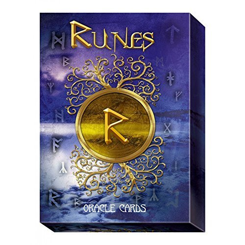 Baraja Runes Oracle por Cosimo Musio, Set de 24 Cartas de Interpretaci