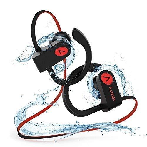 Victorist Bluetooth Kopfhörer in Ear, IPX7 Wasserdicht Sport Kopfhörer Joggen/Laufen Bluetooth 4.1, Noise Cancellation Ohrhörer mit Mikrofon Drahtloser für iPhone Android
