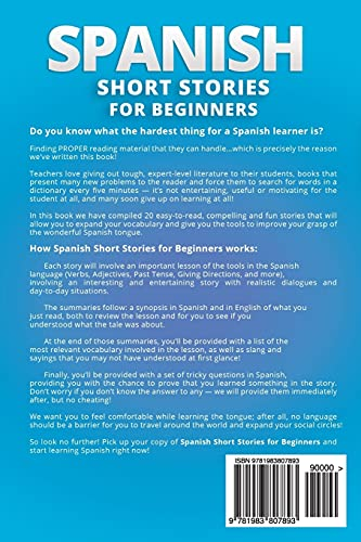 Spanish Short Stories for Beginners: 20 Captivating Short Stories to Learn Spanish & Grow Your Vocabulary the Fun Way!: Volume 1 (Easy Spanish Stories)