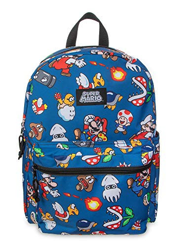 Super Mario Brothers All Over Print 16' Backpack