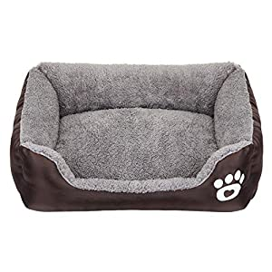 CPG DOTS Dog Bed, Super Soft Pet Sofa Bed Pillow Cats Bed, Non Slip Bottom Pet Lounger, Self Warming and Breathable Premium Pet Bedding