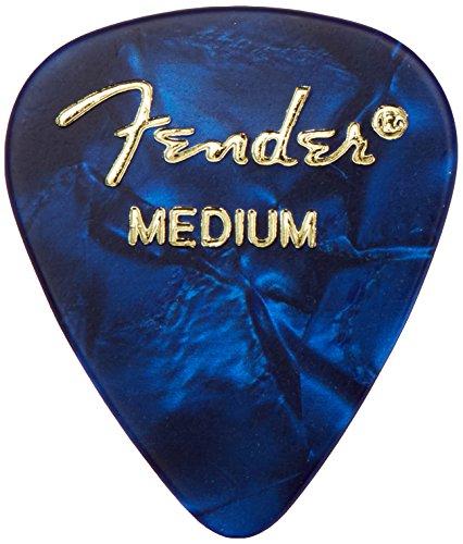Fender Moto Style Guitar Picks, 12 Pack - Blue