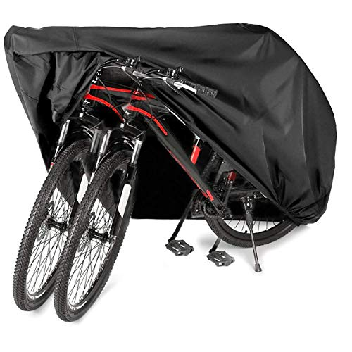 Audew Bike Cover Bicycle Cover for 3 Bikes, 210D Oxford Fabric Cover Bike Waterproof Outdoor Rain Sun UV Dust Wind Proof XL for Mountain Road Electric Bike