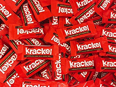 RiverFinn Bulk Mini/Fun Size Krackel Candy Bars - Fresh and Delicious Chocolate Candy - Great for Trick-or Treating, Snacking, Lunches, Baking, Candy Bowls, Candy Buffet, Holidays, Favors and Gifts.