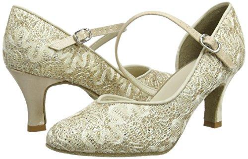 So Danca Damen Standard & Latein Tanzschuhe – Standard & Latein Bl504, Gold (Gold Sparkle), 38.5 EU (8.5 US) - 5
