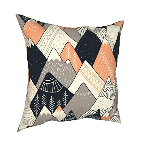 Throw Pillow Funda Fundas de Almohada Montañas de 18x18 Pulgadas en Estilo escandinavo Decoración para la decoración del hogar Oficina Sofá Bar de Vacaciones Café Boda Coche