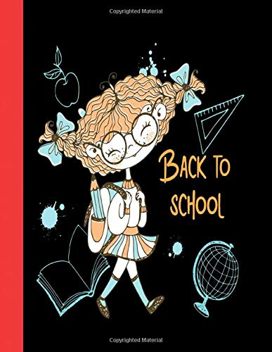 Back to Scool: 100 blank lined white pages, Duo sided wide ruled sheets, Can be used as a notebook, journal, diary or composition book for school