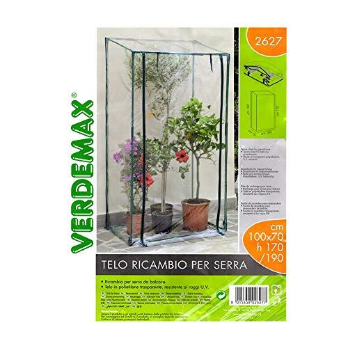 Verdemax 2627 - Telo Ricambio per Serra Terazzo Big (L100 X P 70 X H 170/190 Cm)