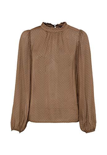 HALLHUBER Georgette-Bluse mit Grafikprint weit geschnitten Camel, 38