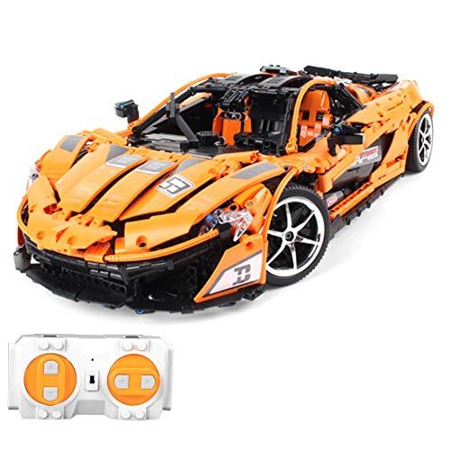 DXX Technik Bausteine Auto McLaren P1 Sportwagen, 3427Teile 1:8 2.4G Sportwagen Bausteine Konstruktionsspielzeug Kompatibel mit Lego Technic
