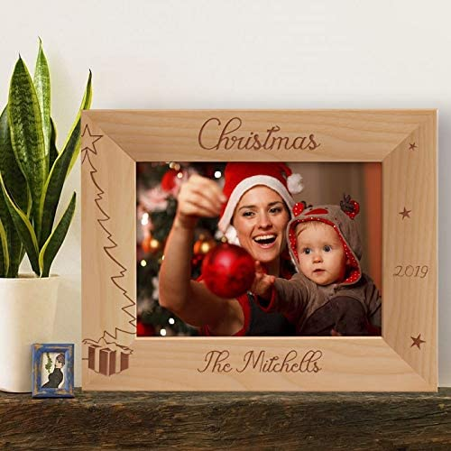 Center Gifts Personalized Merry Christmas Year Fort Worth Mall Max 55% OFF by Picture Wooden