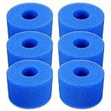 Cartucho de filtro de piscina reutilizable lavable de repuesto de espuma Cartrigde Hot Tub para tipo S1 (azul)