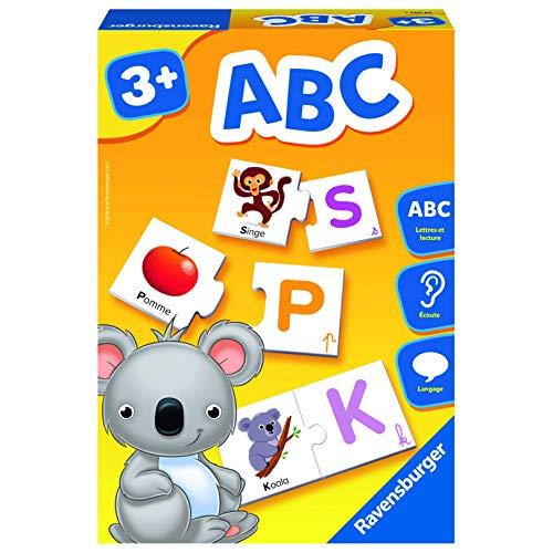 Ravensburger- Jeu Educatif- ABC- apprentissage des lettres- A partir de 3 ans- 24042