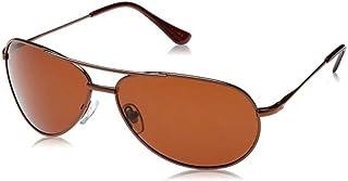 نظارة شمسية للرجال مقاس 65 ملم من تي اف ال- بني