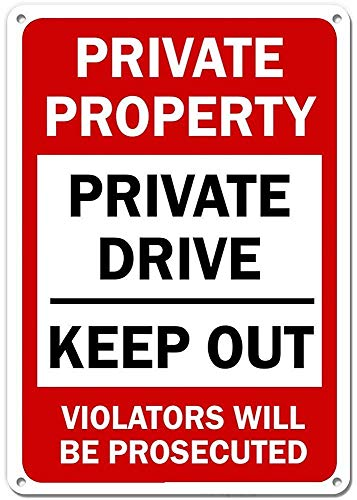 Jackgold Honey Dead End – Private Road, No Soliciting, No Trespassing Sign | Aluminio de 12 x 18 Pulgadas, Unisex Adulto, como se Muestra en la Imagen, 12x16