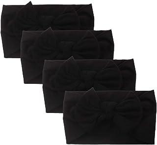 O MOTOCO 4Pcs Newborn Baby Headbands for Girls Bow-Knot Headbands Elastic Turban Hair Bands Hair Accessories Photography Props