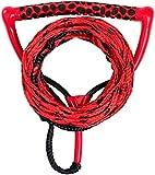 MESLE Wasserski & Wakeboardleine Ergo, schwimmend, Länge 23 m, verkürzbar auf 16,7 m, ergonomischer Eva Schaumstoff-Griff, rot schwarz, mit Rope Keeper