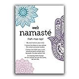 Zhaoyangeng Stampa Definizione Namaste Poster Zen Yoga Tela Pittura Yoga Parete Arte Incisione Meditazione Per La Decorazione Domestica - 50X70Cm Senza Cornice
