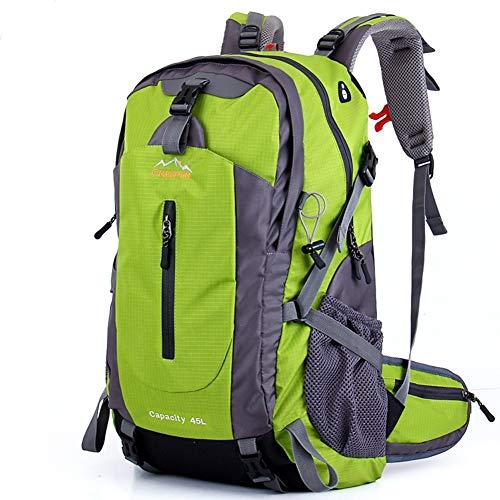 MountRise-Bags Mochilas de Montar de 45 litros, Mochila de montañismo de travesía Ultraligera Multifuncional, Unisex, Ideal para Viajes Cortos de 2 a 3 días,Green