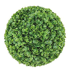 SunnyRoyal Topiary Ball Artificial Outdoor Boxwood Balls Topiary Lifelike Plants, Round Topiary for Indoor/Outdoor Decore