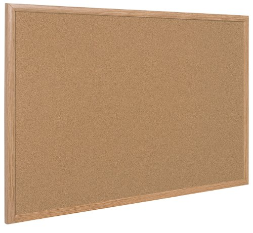 Bi-Office Earth Executive - Tablero de Corcho de Marco de MDF Roble, 120 x 90 cm