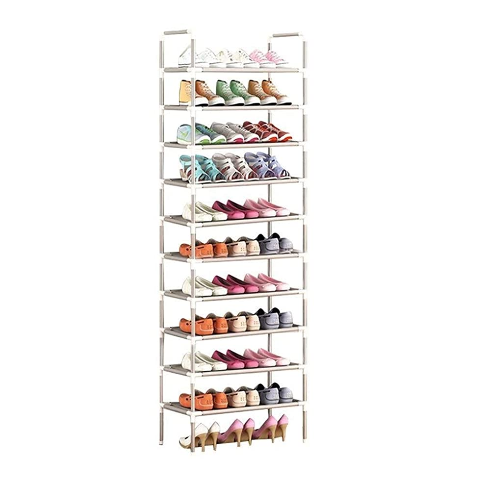 メモ隠こどもの日WYDG 組み立てやすい靴ラックの寝室の収納棚多層小さな靴キャビネットシンプルな家庭用経済ラック (Size : 10 tier)