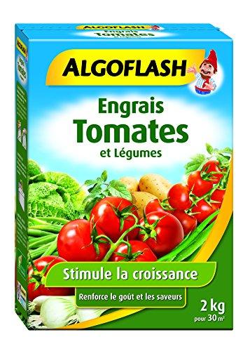 classement un comparer Engrais ALGO FLASH pour tomates et légumes, jusqu'à 20 m², 2 kg, POTA2