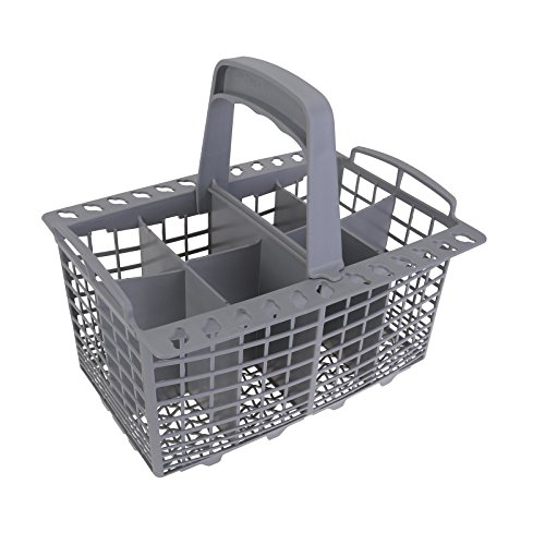 Qualtex Grey Dishwasher Cutlery Silverware Basket For Kenmore Whirpool Bosch Maytag KitchenAid Maytag Samsung AMANS GE 9' Long x 5' Wide With Spoon Holder