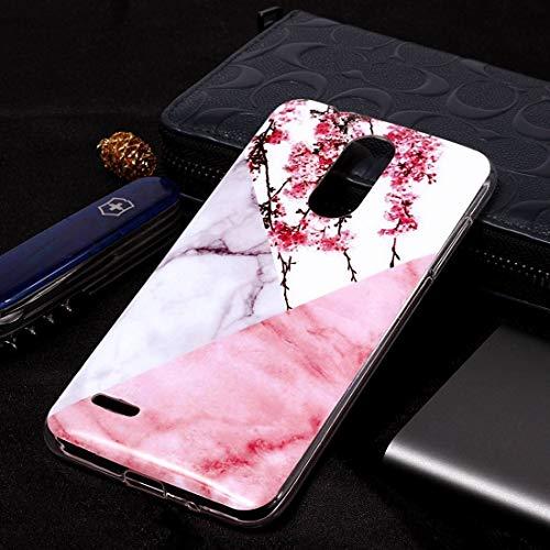 Ebogor para LG K8 (2018) Caso, patrón de mármol Suave TPU Caso de Cubierta Protectora Caja del teléfono Creativo (Color : Plum Blossom)