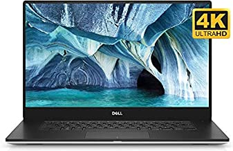 """Dell XPS 7590 Home and Entertainment Silver Laptop (Intel i7-9750H 6-Core, 64GB RAM, 2TB PCIe SSD, GTX 1650,15.6"""" 4K UHD (..."""
