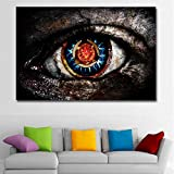 MhY Drucken Abstrakte Gemälde Graue Augen Wandbilder Für