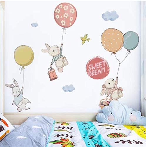 Lou Yun Lapin Autocollants Mignon Stickers Muraux Décoration De La Chambre Des Enfants Porte Autocollants Armoire Autocollants Décoration De La Maison 40 Cm * 70 Cm