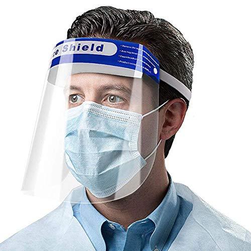 VisièRe de Protection Faciale, Bouclier RéUtilisable Transparent Complet Masque pour Les Yeux et La TêTe,2ps