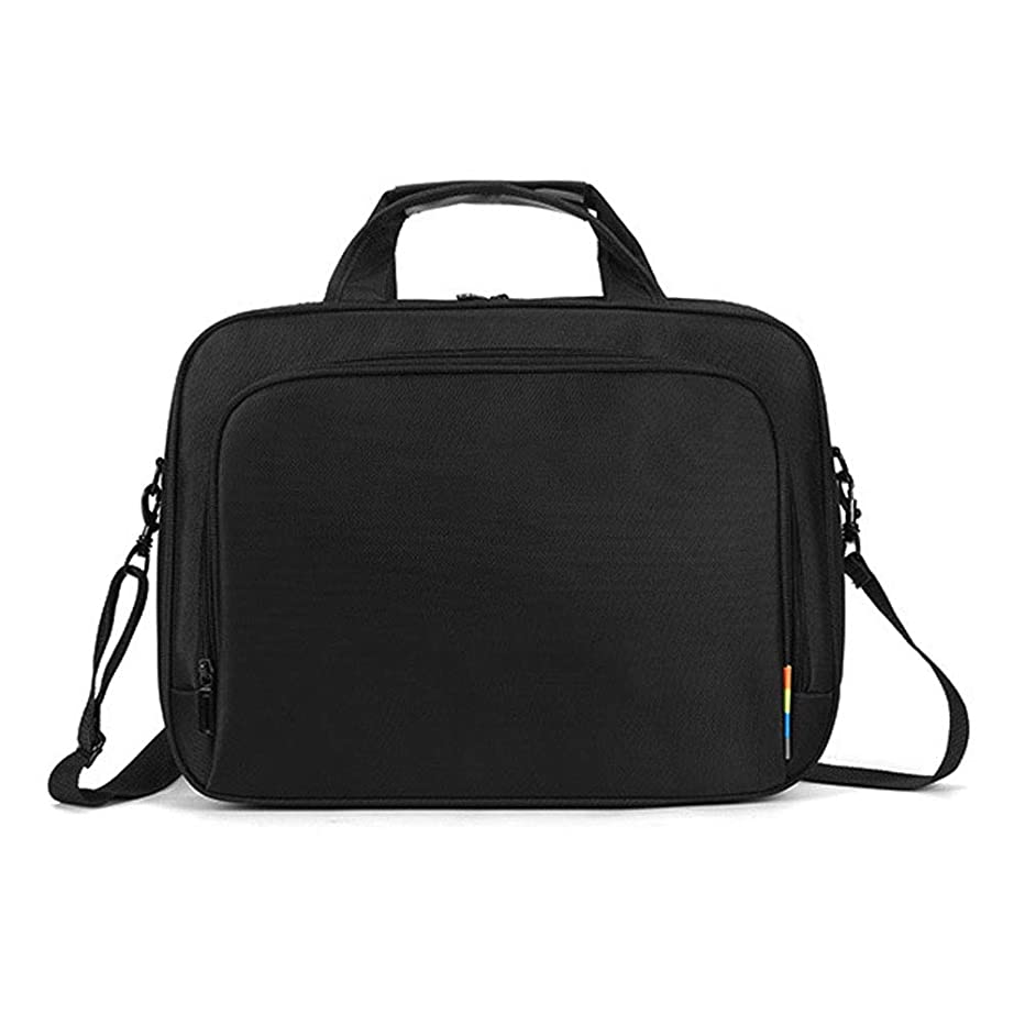 15.6 inch Laptop Bag,Waterproof Travel Briefcase Handbag Crossbody Case Shoulder Messenger Bag Business Office Bag with Wide Removable Straps Luggage Strap Handle for Men Women Work Black