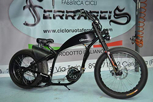 Fat Bike Bicicleta Harley Davidson réplica Chopper Cruiser Personalizable–Transparente, Kit 750W 17ha