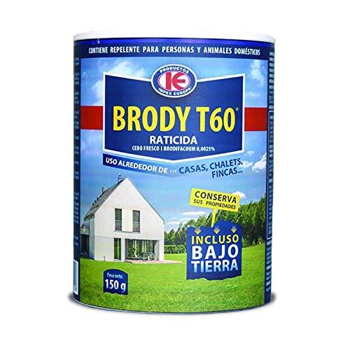 IMPEX EUROPA Brody T60 - Cebo Fresco Elimina Ratones, Topos, Topillos y Ratas, Uso Doméstico, 150 gr, Azul