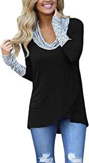 Blouses for Womens, FORUU Striped Long Sleeve Sweatshirt Pullover Tops T Shirts