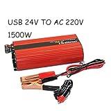 VIGORFLYRUN PARTS LTD Inversor del Coche 1500W 24v a 220v 50Hz inversor Auto del Encendedor convertidor del convertidor de Poder del Encendedor
