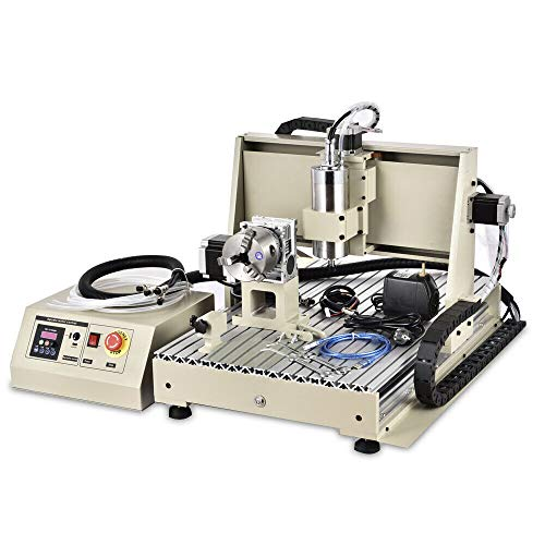 RanBB USB 4 Axis 6040 CNC Router Engraver 1500W VFD Spindle Milling Machine with Remote Controller