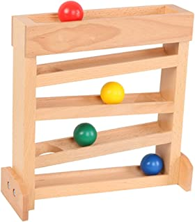 LuDa 5 Layers Wooden Ball Ramp Racer Mini Maze Race Educational Toys Great Gift