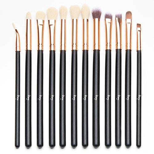 Qivange Eye Makeup Brushes Set, Synthetic Eyeshadow Brushes Eye Makeup Brush Set...