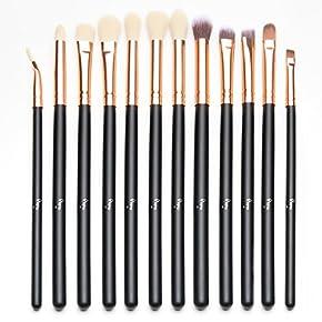 Qivange Eye Makeup Brushes Set, Synthetic Eyeshadow Brushes Eye Makeup Brush Set Cosmetics Brushes Concealer Eyebrow Eyeliner Eyeshadow Blending Brushes