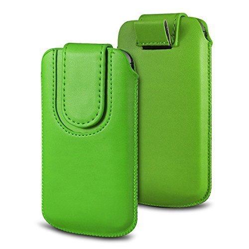 N4U Online Various Farbig Magnetisch PU Leder Zug Kippen Tab Schutzhüllen Tasche für Doogee X5S - Grün