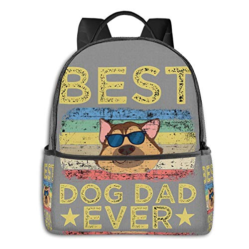 Best Dad Dog Ever Giftfashion School Backpack Unisex Classic Lightweight Backpack Printing Cute for Boys Girls High School College Schoolbag Sloth