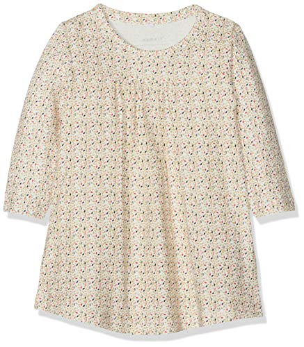 Name It Nbfsild Ls Dress Box Robe, Blanc (Snow White), 86 Bébé Fille