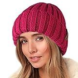 FURTALK Knit Beanie Hats for Women Men Double Layer Fleece Lined Chunky Winter Hat Skull Cap