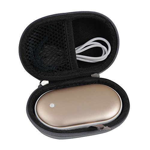 Hermitshell Hard EVA Travel Case Fits Osunlin 5200mAh Portable Pebbles Double-Side Rechargeable Hand Warmer Power Bank (Sliver)