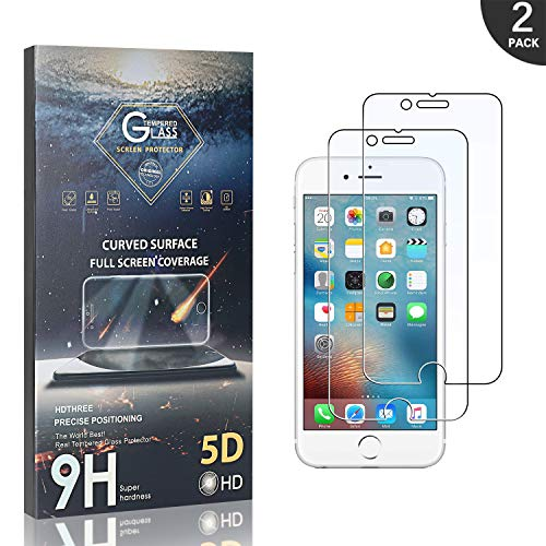 Générique Verre Trempé Compatible avec iPhone 6S Plus/iPhone 6 Plus, LAFCH Protecteur d'écran en Film Protection écran pour iPhone 6S Plus/iPhone 6 Plus, Anti Fingerprint, Anti Rayures, 2 Pièces