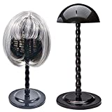 Wig Stand Plastic Hat Display Wig Head Holders Mannequin Head/Stand Portable Wig Stand Use Hat For Styling Drying Display 2018 (Black)