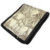 財布 二つ折り クロコダイル ヒマラヤ ホワイト ホーンバック テイル メンズ レディース